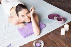 Girl Spa massage sauna relaxation bath Stock Photography