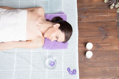 Girl Spa massage sauna relaxation bath Royalty Free Stock Image