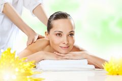 Girl at spa massage Royalty Free Stock Photography