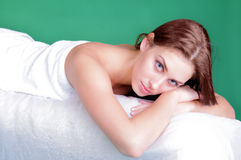 Girl spa moment Royalty Free Stock Photography