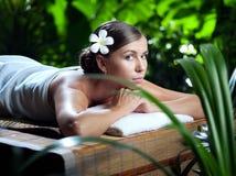 Girl in spa Stock Photos