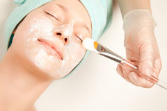 Girl at spa procedures Stock Photography