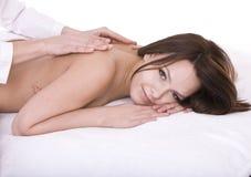 Girl on spa resort. Massage. Royalty Free Stock Image