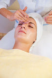 Girl in spa salon Royalty Free Stock Photos