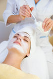 Girl in spa salon. Beautiful girl in spa salon Stock Photography