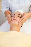 Girl in spa salon stock photos