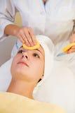 Girl in spa salon Royalty Free Stock Image