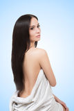 Girl in Spa salon after cosmetic procedures Royalty Free Stock Photography