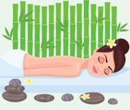 Girl on spa treatment. Vector illustration. Girl on spa treatment. Vector illustration Stock Images