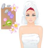 Girl on spa treatments Stock Photos