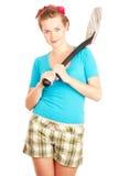 Girl with spade Royalty Free Stock Photos
