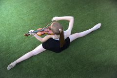 Ballet and violin stock image
