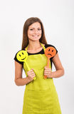 Girl with a spatula Stock Photo