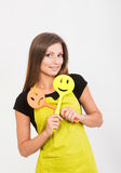 Girl with a spatula Stock Photography