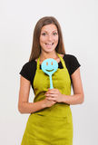Girl with a spatula Stock Photos