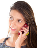 Girl speaking on a cell phone Royalty Free Stock Image
