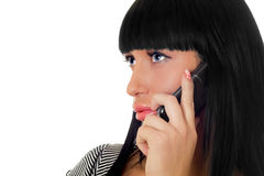 Girl speaking on the phone Royalty Free Stock Photos