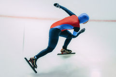 Girl speed skaters goes on ice Royalty Free Stock Photo