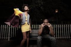 Free Girl Spending Boy S Money Royalty Free Stock Photography - 10479337