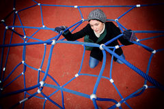 Girl in a spider's web Stock Images