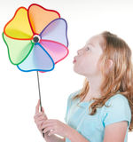 Girl with spinner Royalty Free Stock Photos