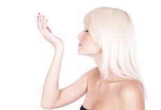 Girl. Spirits. Cosmetics Stock Photos