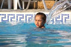 Girl splash Royalty Free Stock Image