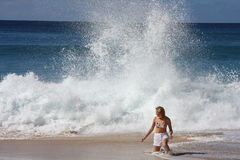 Girl and splashes Stock Photo