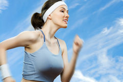 Girl in sport Royalty Free Stock Photos