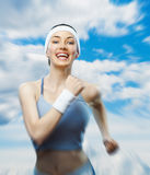 Girl in sport. On the nature Royalty Free Stock Images