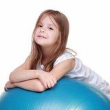 Girl in sport at ftibole Royalty Free Stock Photo