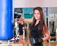 Girl in sport hall Stock Photo