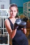 Girl in sport hall Stock Photos