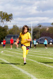 Girl in sport race Stock Photos
