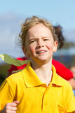 Girl in sport race Stock Photo