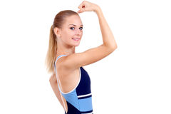 Girl in sport's wear Royalty Free Stock Photos