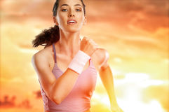 Girl in sport Royalty Free Stock Photography
