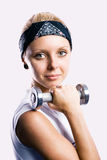 Girl in sports Stock Photography