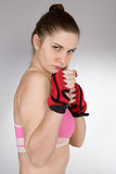 Girl in the sports form Royalty Free Stock Photography