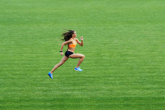 Girl sports stadiums Royalty Free Stock Image