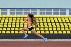 Girl sports stadiums Stock Photography