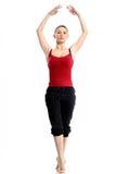 Girl in sportswear doing sport exercises Stock Images