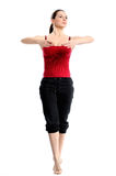 Girl in sportswear doing sport exercises Royalty Free Stock Image