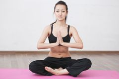 Yoga class room Stock Images