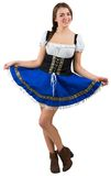 Girl spreading her skirt Royalty Free Stock Photos