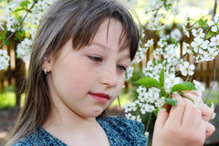 Girl in spring Stock Photography
