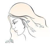 Girl-spring. Girl in the image of spring. Illustration on a white background Stock Illustration