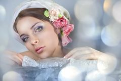 Girl-spring Royalty Free Stock Photography