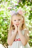 Girl in spring Stock Image