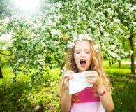 Girl at spring Royalty Free Stock Photos